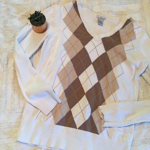 Izod Golf | ladies argyle sweater • m